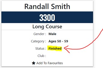 Trail running results