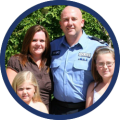 police man with family